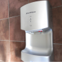 Cyclone Silver Blade Hand Dryer Side On