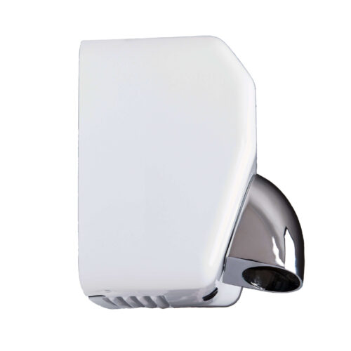 White Steel Commercial Hand Dryers Side Profile