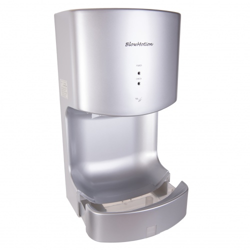 Silver Cyclone Blade Hand Dryers Water Collection Tray Full View