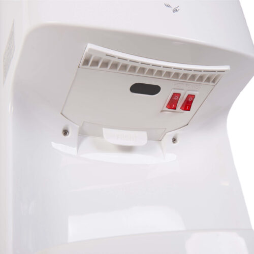 White Cyclone Blade Hand Dryers 22 Air Jets