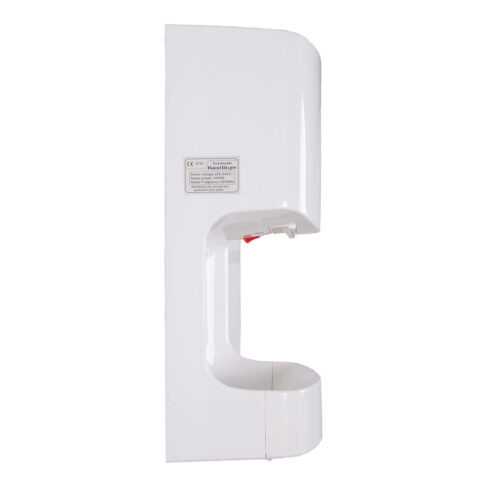 White Cyclone Blade Hand Dryers Side Profile