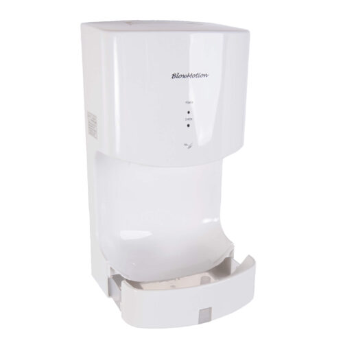 White Cyclone Blade Hand Dryers Water Collection Tray Full View