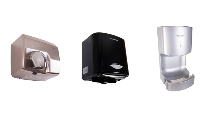 selection of blow motion hand dryers