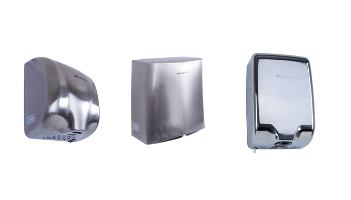 selection of hand dryers
