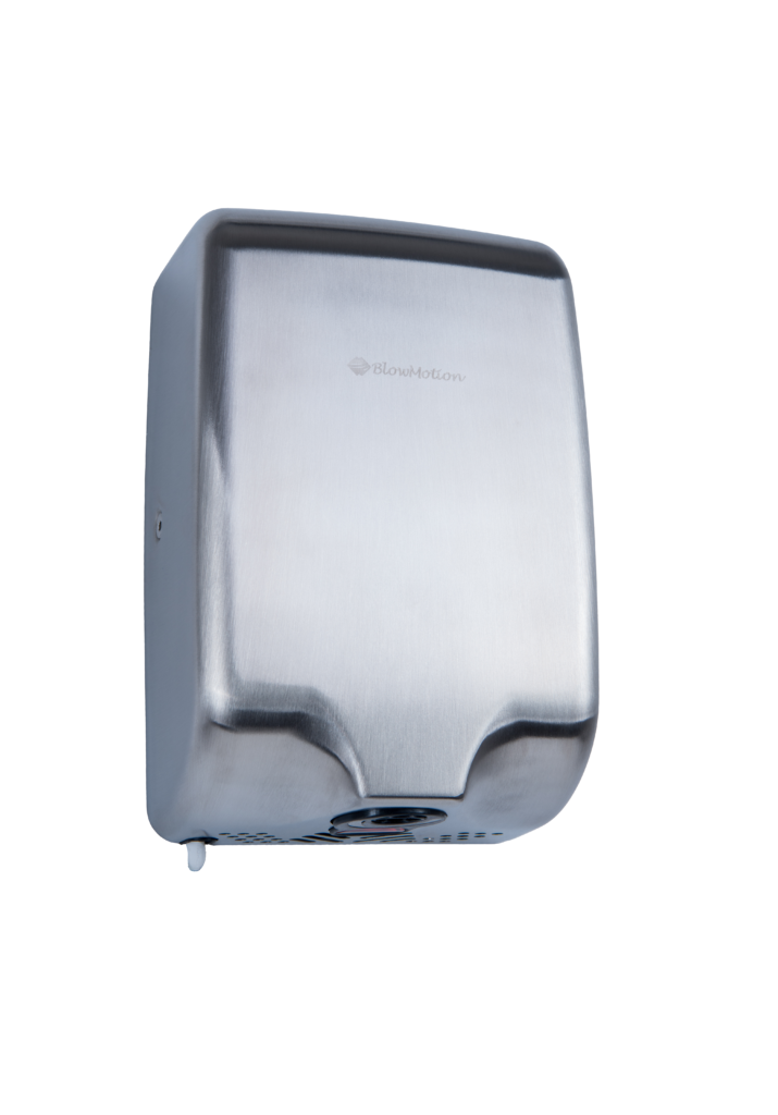 slim dry brushed steel hand dryer