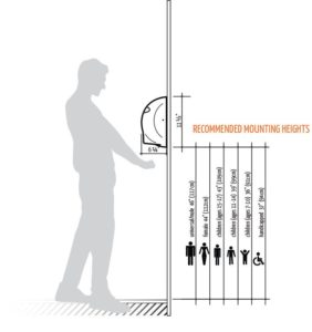 recommended hand dryer mounting height-min